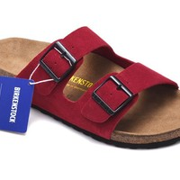 Men's and Women's BIRKENSTOCK sandals Arizona Soft Footbed Suede Leather 632632288-093