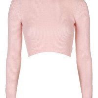 Turtle Neck Crop Top by UNIF - Topshop