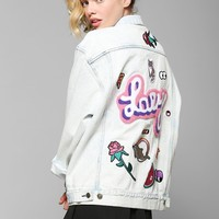 Lazy Oaf My Collection Oversized Patched Denim Jacket - Urban Outfitters