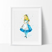 Alice in Wonderland 2 Watercolor Art Print