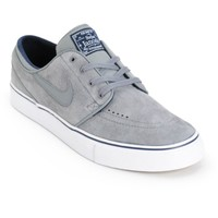 Nike SB Stefan Janoski SE Cool Grey & White Skate Shoes