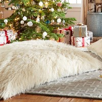 Faux-Fur Oversized Floor Pillow