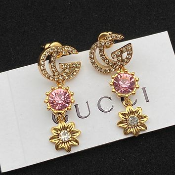 GUCCI GG Earrings with crystals