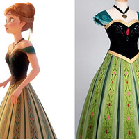 Anna Dress, Anna Costume, Anna Cosplay Costume