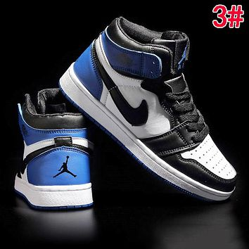 Nike AIR JORDAN 1 Fashionable Women Men High Top Sport Running Shoes Sneakers 3#