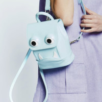 Mini Droolita Backpack in Baby Blue Patent Leather