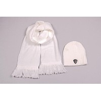 Gucci Men's and women's fashion accessories winter warm scarf cover hat two-piece