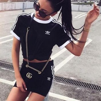 '' adidas '' Originals Black Female suit