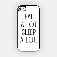 for iPhone 6 Plus - High Quality TPU Plastic Case - Eat A Lot Sleep A Lot - Teenage Problem - Funny - Sassy - Hipster