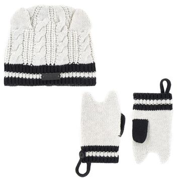 Karl Lagerfeld Baby Choupette Hat and Mittens Set