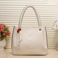 YSL Women Shopping Leather Chain Satchel Shoulder Bag Satchel Crossbody Beige I-LLBPFSH Tagre™