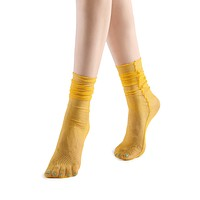 Diamond Sheer Crew Sock | Yellow