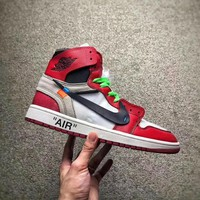 new in nike CARZYNO2 Air Jordan 1 Off White AJ1
