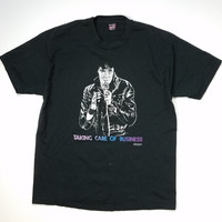 Elvis King of Rock Tee Taking Care of Business T-Shirt