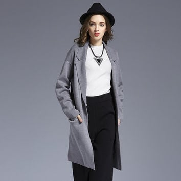 Knit Tops Sweater Winter Blazer Jacket [9010376326]