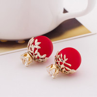 Double Sided Circle Earrings