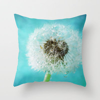 dandelion-one Throw Pillow by Sylvia Cook Photography