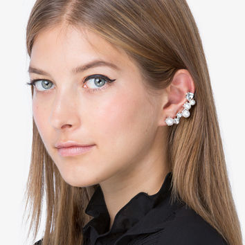 Statement Diamond and Pearl Ear Cuff