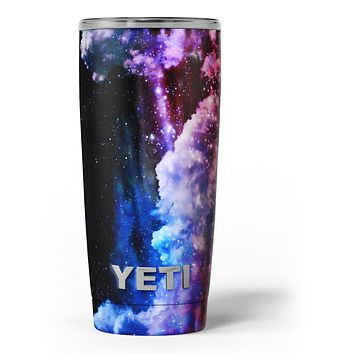 Purple Blue and Pink Cloud Galaxy - Skin Decal Vinyl Wrap Kit compatible with the Yeti Rambler Cooler Tumbler Cups