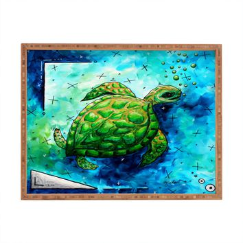 Madart Inc. Sea of Whimsy Sea Turtle Rectangular Tray