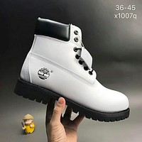 Timberland boots for men and women shoes waterproof Martin boots lovers white  I-CSXY