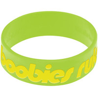 Lime Green Yellow Boobies Rule Awareness for Breast Cancer Bracelet | Body Candy Body Jewelry
