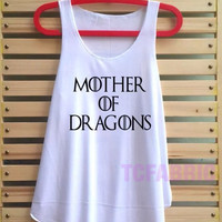 mother of dragons shirt vintage loose fit tank top singlet clothing vest tee tunic - size S M L