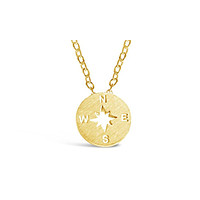 Minimalist Compass Necklace Backpackers & Travelers
