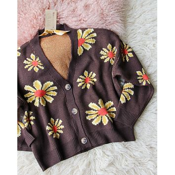 Retro Daisy Sweater