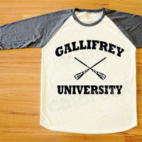 Gallifrey University TShirt Hogwarts Alumni Shirt Funny Tee Shirt Long Sleeve Shirt Women Shirt Men Shirt Unisex Shirt Baseball Tee S,M,L