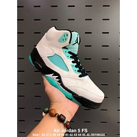 "Air Jordan 5 FS ""Island Green"""