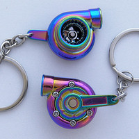 Spinning Turbo Keychain - Neochrome