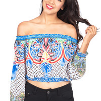 Island Dreaming Off Shoulder Top