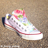 Floral Converse Shoes / Boho Floral Chucks