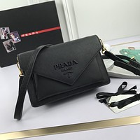 prada women leather shoulder bag satchel tote bag handbag shopping leather tote crossbody 4
