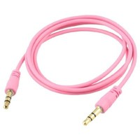 niceeshop(TM) Pink 3.5mm M/M Stereo Audio Aux Cable Cord For iPod Computer PC