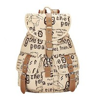 Women's Casual Canvas Printing Travel School College Backpack/bookbags/daypack for Teenage Girls/students/women