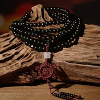 2 Color Natural Fragrant Sandalwood Beads Bracelet Buddhist Meditation Prayer Beads Mala Bracelet Hand Necklace