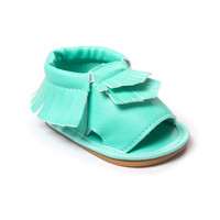 brand pu leather tassel baby moccasins for boys girls baby shoes for walk birthday intdoor shoes hard rubber bottom first walker