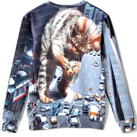 Huge Cat-Print Sweatshirts