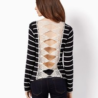 May Crochet Striped Top | Fashion Apparel & Clothing | charming charlie