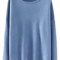 Solid Color Sweater For Women