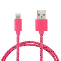MagicShield 10 Feet Cable USB Charger Sync Cord for for iPhone 6 Plus iPhone6 5 5C 5S iPad Mini iPad Air - Hot Pink