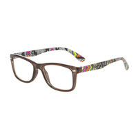 Black Frames with Multicolored Aztec Print Arms