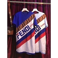 FENDI Popular Women Personality Color Matching T-Shirt Dress I/A