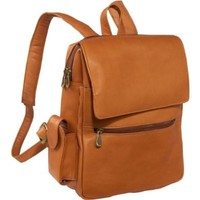 Le Donne Leather Ladies Tech Friendly Backpack (Tan):Amazon:Clothing