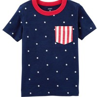 Fourth Of July Pocket Tee