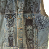 Horror Movie Icon Vest (Psycho, Evil Dead, Zombie, Shining, Phantasm, Leatherface, Evil Dead, Chainsaw, Halloween, Friday 13th, Hitchcock)
