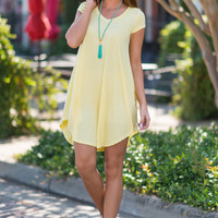 Main Street Traveling Dress, Yellow
