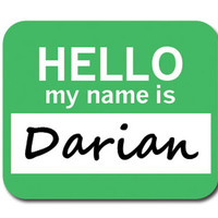 Darian Hello My Name Is Mouse Pad